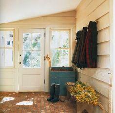 The French Tangerine: ~ brick flooring- I love all these brick floors - my dream:)