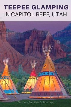 Experience the old west at Capitol Reef Resort, offering cabins, teepees, and authentic Conestoga wagons, at the doorstep of Capitol Reef National Park. Glamping, Utah Vacation, Vacation Spots, Family Vacation Destinations, Vacation Packages, Utah Adventures, Outdoor Adventures, Capitol Reef National Park, National Parks Usa