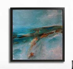 Painting Acrylic Wall Decor TURQUOISE LANDSCAPE by tegafineart