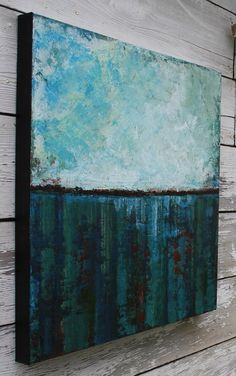 Large Abstract Seascape Painting  North by SageMountainStudio, $225.00