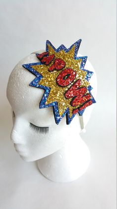 Items similar to KAPOW! Comic Geek Cartoon Glitter Headband on Etsy Picture Letters, Alice Band, Classic Comics, Glitter Fabric, Love Is All, Picture Show, Color Schemes, Clever, Geek Stuff