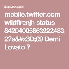 mobile.twitter.com wildfirenjh status 842040058639224832?s=09 Demi Lovato 💗