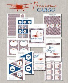 Precious Cargo Vintage Airplane Party Collection - DIY. $35.00, via Etsy.