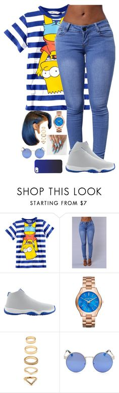 """Untitled #123"" by amyajp ❤ liked on Polyvore featuring H&M, NIKE, Michael Kors and Forever 21"