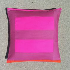 Handcrafted Pillow Cover Magenta Bricks by rainandtheriver on Etsy, $48.00