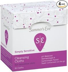 Summer's Eve Cleansing Cloth Simply Sensitive, 16 Count (Pack of Health: Deodorant, Feminine Wipes, Feminine Hygiene, Wipe Away, Loreal Paris, Have Time, Sensitive Skin, Eve, Summer