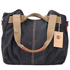 Z-joyee Women s Ladies Casual Vintage Hobo Canvas Daily Purse Top Handle  Shoulder Tote Shopper Handbag Satchel Bag  Clothing 82969a24e32db