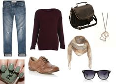 """""""Off to Class"""" by eeg741 ❤ liked on Polyvore"""