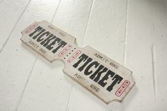 Distressed Oversized Ticket Strip Admit One by SDSilhouettes, $35.00