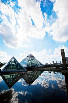 Muttart Conservatory :: City of Edmonton by Ramsey Kunkel. aka the mysterious pyramids that i could not get into