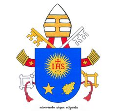"""Pope Francis' coat of arms and papal motto...I believe that he is the """"De Laboris Solis"""" as mentioned in the prophesies of St. Malachy!"""