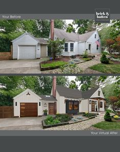 Home Exterior Makeover, Exterior Remodel, Exterior House Colors, Exterior Design, Exterior Paint, House Front, Front Porch, Screened In Porch, Before After Home
