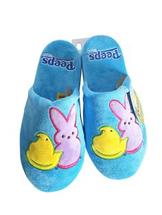 Peeps Brand Blue Slippers #stellasaksa #peeps #blue #shoes #slippers #easter #candy #spring