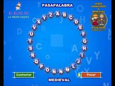 PASAPALABRA MEDIEVAL Castle Project, Social Science, Middle Ages, Social Studies, Geography, Blog, Teacher, App, Education