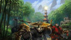 World of Warcraft: Mists of Pandaria (background) by cursedblade1337 on DeviantArt