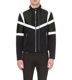 NEIL BARRETT Quilted neoprene bomber jacket