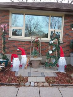 Decorate your front porch yard or garden for the winter holiday season with this gnome Christmas decor idea. Easy DIY holiday home decor on a budget. A Christmas holiday design on a dime home Pine Cone Christmas Tree, Christmas Gnome, Christmas Crafts, Christmas Decorations, Holiday Decor, Winter Holiday, Christmas Holiday, Christmas Garden, Christmas Ideas