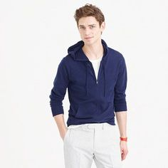 J.Crew Lightweight Italian cashmere full-zip hoodie