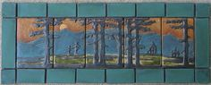 Hand Crafted Fir Landscape Set with Border by Ravenstone Tiles   CustomMade.com