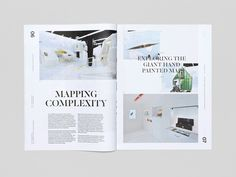 """""""Trace"""" is a self-promotional magazine produced by international scenographers Curious Space. UK-based studio SocioDesign was responsible for the beautifully executed editorial design.  """"Following on from our work on the Curious Space website, the magazine develops and expands upon the brands visual aesthetic; utilising an asymmetric layout and a mixture of typographic styles.""""  More graphic design Visit their website"""