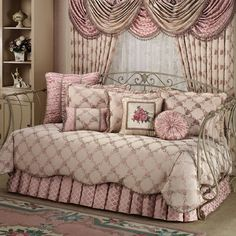 Floral Trellis Daybed Bedding. Just divine. Love love love the shape of the daybed. So romantic and girly. Maybe in five years time.....since I've already got the theme for this reno.