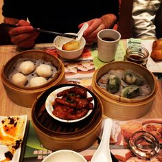 Hong Kong, at the epitome of Cantonese food, is world famous for it's dim sum.  If you've never had it before, dim sum is food prepared as small bite-sized dishes, that is traditionally served in small steamer baskets.