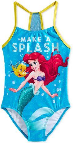 4c5ce2011ab30 Dreamwave Little Girls Little Mermaid Graphic Swimsuit