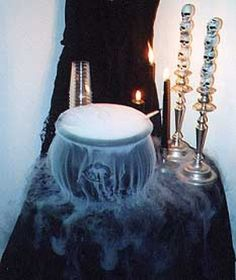 "For a frightfully good drink at your Halloween party, consider making ""Witches Brew"". Truth be told, nearly any drink can be dubbed Witches Brew - by simply adding dry ice (that has been shaped into the form of hand) into a cauldron and then adding creepy delightfully good treats like gummy worms. This recipe supplied by courtesy of Food Network and Sandra Lee just happens to be excellent - AND - you can make it with or without alcohol so it's perfect for kids parties too."