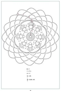 Mandala patron We are want to say thanks if you like to sh Crochet World, Crochet Home, Diy Crochet, Crochet Diagram, Crochet Motif, Crochet Doilies, Dream Catcher Pink, Feather Dream Catcher, Doily Patterns