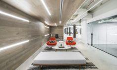 5 Bryant Park  Designer: MKDA New York    #5bryantpark #office #mkdanewyork #tagwall #slimline #interiordesign #officedesign #walldesign #workspaces Bryant Park, Workspaces, Wall Design, Walls, York, Interior Design, Nest Design, Home Interior Design, Wands