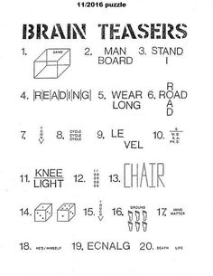 printable brain teasers worksheets for kids teacher student record template