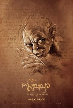 """Four Exclusive """"The Hobbit"""" Posters Available Only At Midnight IMAX Showings    Smeagol"""
