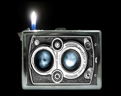 Camera Cigarette Case Wallet With Lighter Bic Lighter, Cigarette Case, Smoking Accessories, Asymmetrical Design, Art Deco Era, Retro, Vintage Antiques, Articles, Fire