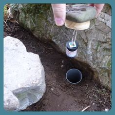 A different way to attach a micro #geocache to a rock. Just remember the hiding guidelines around making holes.