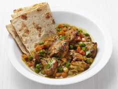 Get Food Network Kitchen's Caribbean Chicken Roti Recipe from Food Network