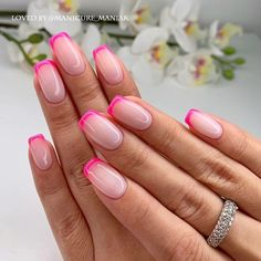 Tinged Short Almond Nails and Stilettos Nails - Fashion is an attitude. - Tinged Short Almond Nails and Stilettos Nails – Fashion is an attitude. Pink Tip Nails, Hot Nails, Hair And Nails, Short Almond Nails, Gel Nails French, Pin On, Stylish Nails, Stiletto Nails, Halloween Nails