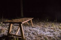 Rustic reclaimed wood dining table. Design by Puuartisti, Finland.