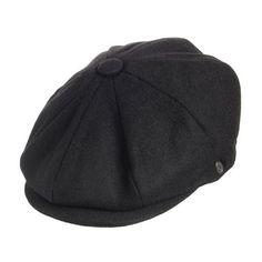 Village Hats Jaxon Harlem Newsboy - Casquette souple - Homme - Noir - Large…