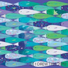 fish by by Ilona Drew (I DREW THIS)