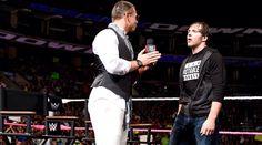 WWE Smackdown 15th Anniversary Miz TV with John Cena & Dean Ambrose