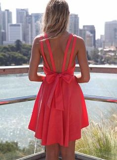 Pink Sleeveless Pleated Dress with Open Bow Back Detail,  Dress, open back  pleated dress, Casual