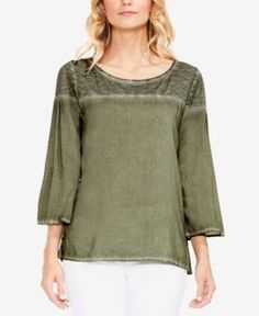 58d4f7ee3f1d36 TWO By Vince Camuto Wide-Sleeve Blouse   Reviews - Tops - Women - Macy s