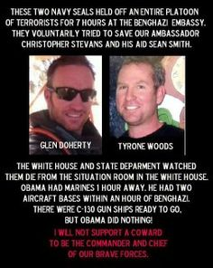 how could anyone just stand by and watch our soldiers die? obama is a disgrace and a traitor!