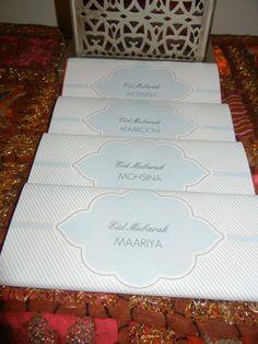 Custom EID MUBARAK chocolate wrapper  with million dollar chocolate bars.