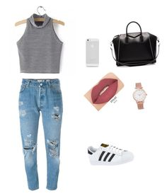 """Perfect summer day"" by newt1504 on Polyvore featuring Levi's, Givenchy, adidas, Larsson & Jennings and Smashbox"