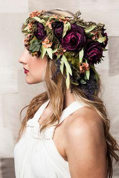 Romantic Blooms Headdress by UnionBlooms on Etsy https://www.etsy.com/listing/181558528/romantic-blooms-headdress