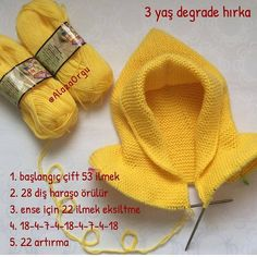 Thank you for the explanation dear my hand . Baby Hats Knitting, Knitted Hats, Crochet Hats, Easy Knitting Patterns, Knitting Designs, Hand Embroidery Dress, Crochet Baby Booties, Knitting For Beginners, Baby Sweaters