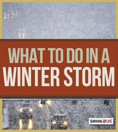 Survival Tips : Ultimate Guide To Winter Storm. List of techniques & guide. Survival and Prepping ideas | Survival Life | http://survivallife.com/2015/01/27/ultimate-guide-winter-storm/