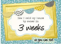 """www.detailgal.com: How to sell your house by owner: before the """"for sale"""" sign"""