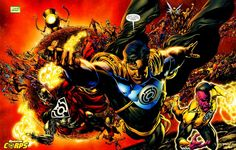 Superboy Prime and The Sinestro Corps by Ivan Reis